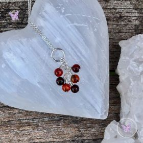 Sardonyx Cluster August Birthstone Necklace